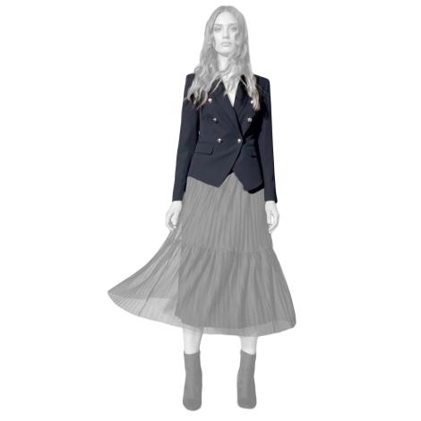 Edas giacca donna colore nero con cady fluido modello Cosmica