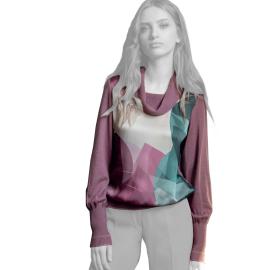 Edas maglia donna fantasia astratta di colore cipolla modello Fannia