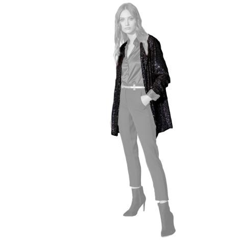 Edas giacca paillettes nero modello Pidolla