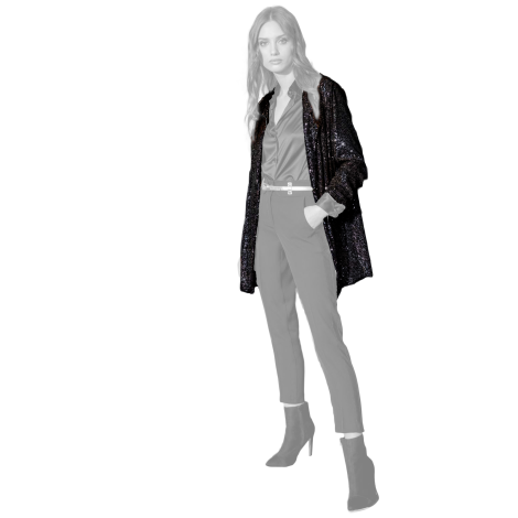 Edas Jacket black sequins Pidolla model