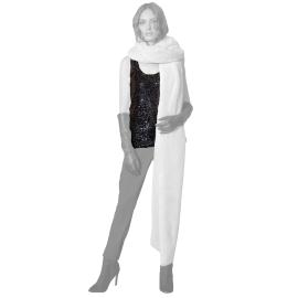 Edas undershirt sequins slight black Pirva model