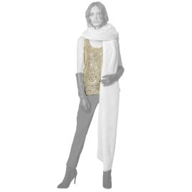 Edas undershirt sequins light beige Pirva model