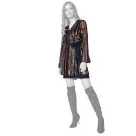 Edas vestito strass multicolor modello Pierluigi