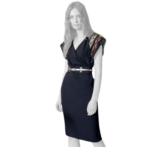 Edas dress black woman Pimela model