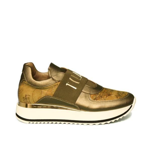 Alviero Martini sneaker donna di colore bronzo con zeppa art. N 0419 0030 X577