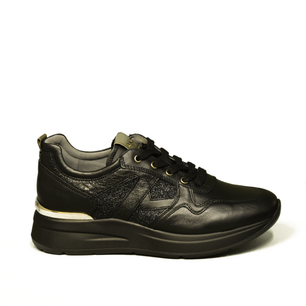 Nero Giardini sneaker Woman black /glitter art. A908893D 100