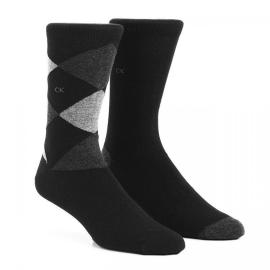 Calvin Klein calzini uomo nero due paia per confezione art. ECT277 EXP1