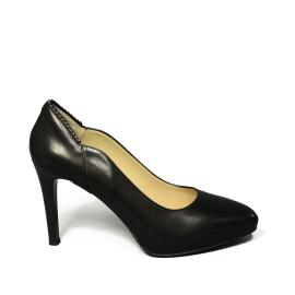 Nero Giardini decolletage woman with average heel black leather article A9 09310 DE 100