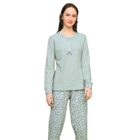 Noidìnotte Pajamas woman Milan point gray melange article FA6925AB