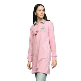 Noidìnotte Vestaglia donna micropile rosa polvere articolo GE2055AB