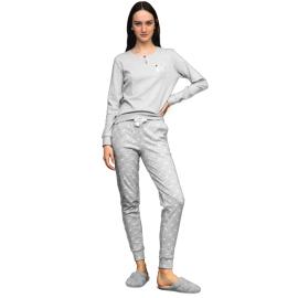 Noidìnotte Pigiama donna caldo cotone grigio articolo FA6837AB