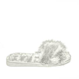 Noidìnotte Pantofola pelosina suola alta donna grigio articolo PF002024