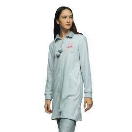 Noidìnotte Vestaglia donna micropile grigio melange articolo GE2055AB