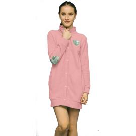 Noidìnotte Vestaglia donna micropile rosa polvere articolo GE2058AB