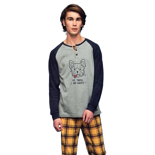 Noidìnotte Pajamas man hot mustard cotton article FC2041AB