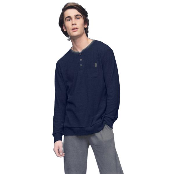 Noidìnotte Pajamas man warm cotton plush blue article FC2062AB