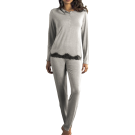 SièLei Pajamas serafino complete woman gray melange article TT15