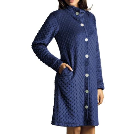 SièLei dressing gown Buttons blue woman article LP71