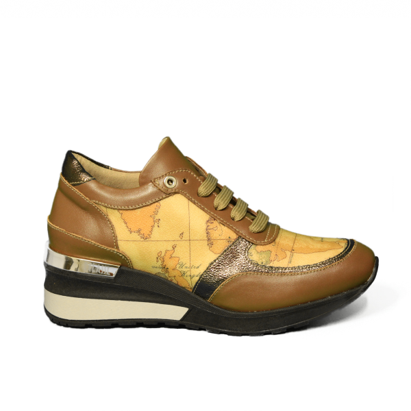 Alviero Martini wedge sneaker donna colore bronzo articolo Z A752 535F