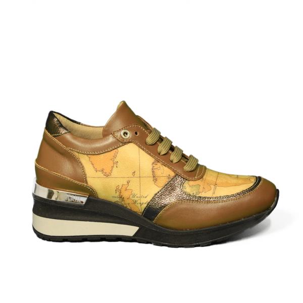 Alviero Martini wedge sneaker woman bronze color article Z TO752 535F