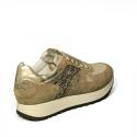 Nero Giardini sneaker donna di color cipria con inserti in oro laminato e glitterato articolo A9 08901 D 614
