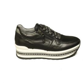 Nero Giardini sneaker donna con zeppa alta colore nero articolo A9 08910 D 100