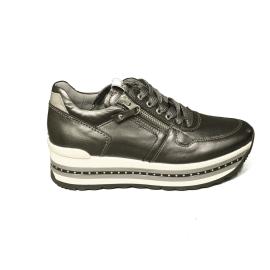 Nero Giardini sneaker donna con zeppa alta colore antracite articolo A9 08910 D 101