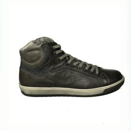 Nero Giardini sneaker alta uomo color piombo in pelle articolo A9 01230 U 109