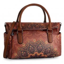 Desigual borsa a spalla colore marrone modello bols tekila sunrise loverty articolo 19WAXP85 6042