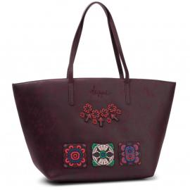 Desigual borsa a mano colore bordeaux modello bols bold sicilia zipper articolo 19WAXPCP 3007