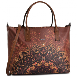 Desigual shopper bag model Bols tekila sunrise holbox brown color Article 19WAXP21 6042