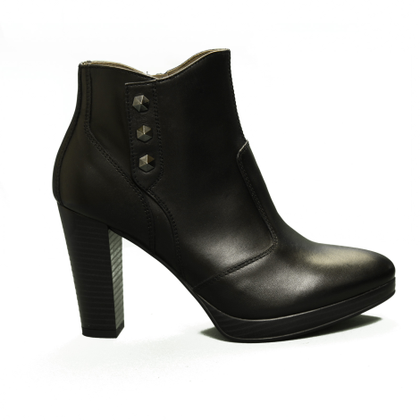 Nero Giardini Tronchetto Woman leather heel with high color black article A9 08711 D 100