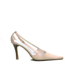 Tiffany decoltè con tacco alto colore beige articolo 9001