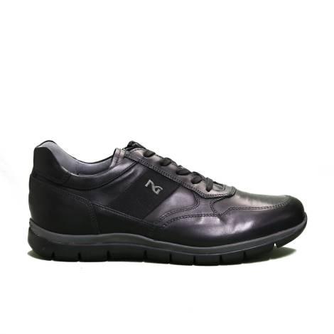 Nero Giardini sneaker man in leather black color article A9 01210 U 100