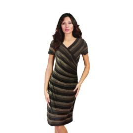 Frank Lyman Design abito corto colore nero e oro ondulato articolo 173284