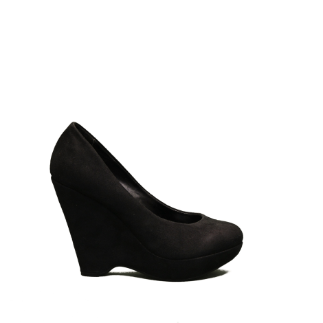 The Primadonna décolleté with wedge woman in suede color black article AP98561 TO D