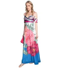 Edas abito lungo con manichine staccabili multicolore articolo smemi