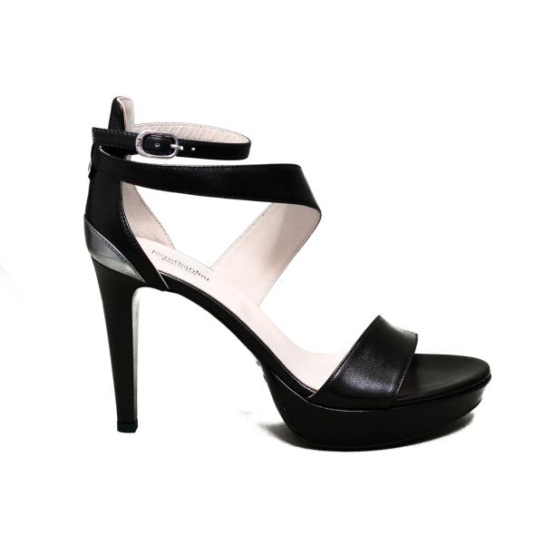 Nero Giardini sandalo elegante donna con tacco alto colore nero articolo E012820DE 100