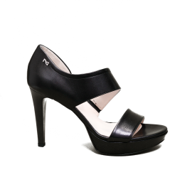 Nero Giardini elegant woman sandal with high heel color black article E012810DE 100