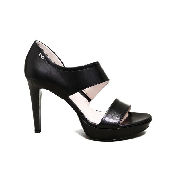 Nero Giardini sandalo elegante donna con tacco alto colore nero articolo E012810DE 100