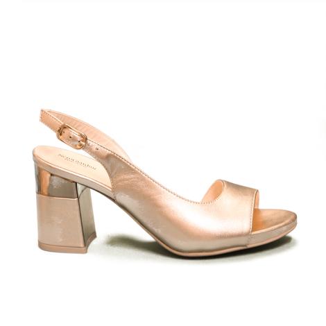 Nero Giardini sandalo donna con tacco alto color laminato phard articolo E012862DE 660