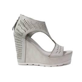 La Femme Plus Sandalo Donna Zeppa Alta Art. 21-3 Bianco