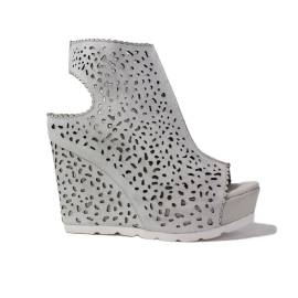 La Femme Plus Sandalo Donna Zeppa Alta Art. 21-4 Bianco