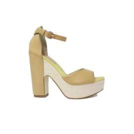 La Femme Plus Sandalo Donna Tacco Alto Art. N15-01 Senape