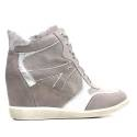 NERO GIARDINI SNEAKERS WOMAN LEATHER / SUEDE ARTICLE P615131D 105 GRAY