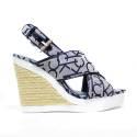 Calvin Klein Jeans Tronchetto Zeppa Alta con Cinturino Articolo RE9607/GRB