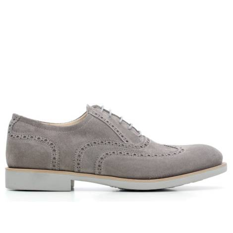 Nero giardini p603970u 124 scarpa stringata pelle scamosciata grigio - Scarpa uomo nero giardini ...