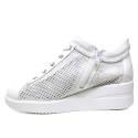Agile by Rucoline Sneaker con Zeppa Media Alta con Cerniera Interna Top Chambers Art. 0226 82310 226
