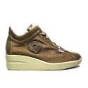 Agile by Rucoline Sneaker con Zeppa Media Alta con Cerniera Interna Top Chambers Art. 0226 82310 226 Tortora