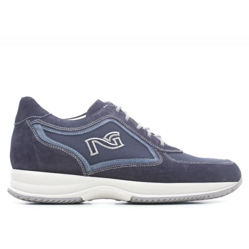 Nero giardini p603970u 200 scarpa stringata pelle scamosciata blu - Scarpa uomo nero giardini ...